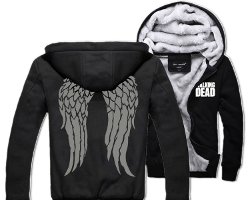 walking dead wings hoodie