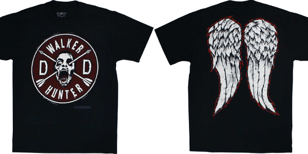 daryl dixon wings and walker t shirt