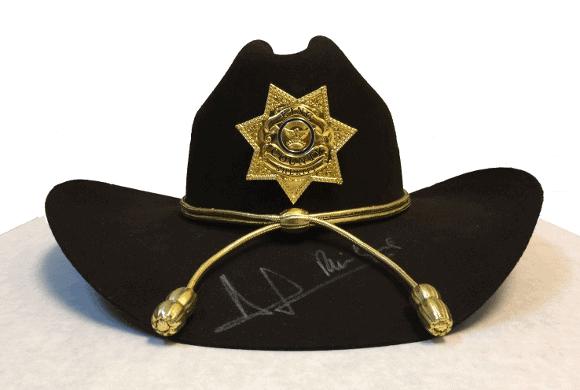 rick grimes hat ~ autographed