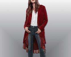 Red Velvet Cardigan