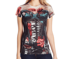 zombie corset shirt