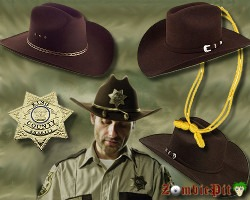Rick & Carl Grimes Hat - Walking Dead Cosplay | ZombiePit