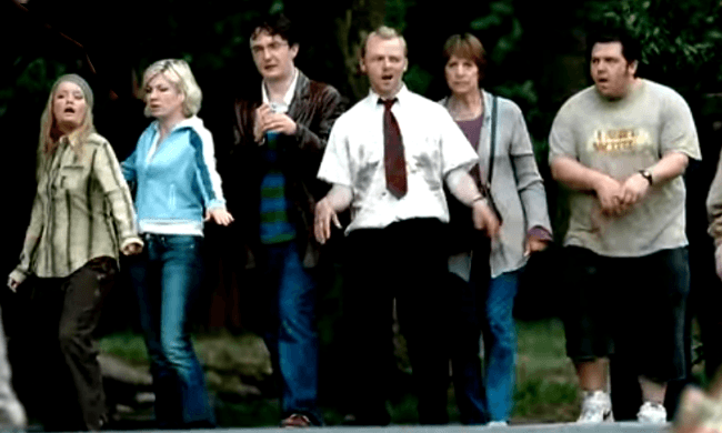 Shaun Of The Dead Simon Pegg Nick Frost Zombie Bill Nighy