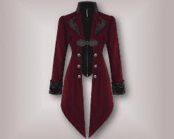 steampunk gothic velvet coat