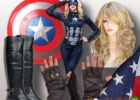 captain america women costume