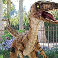 Velociraptor Dinosaur Statue