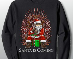 Santa Candy Cane Throne Christmas Sweater