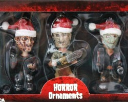 Freddy Jason Leatherface Christmas Ornaments