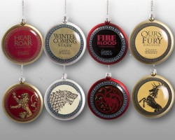 game of thrones disc ornaments