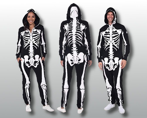 Skeleton Costume Jumpsuit