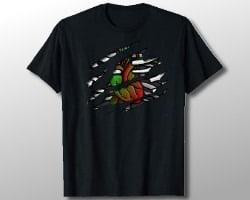 Zombie Heart and Bones Shirt